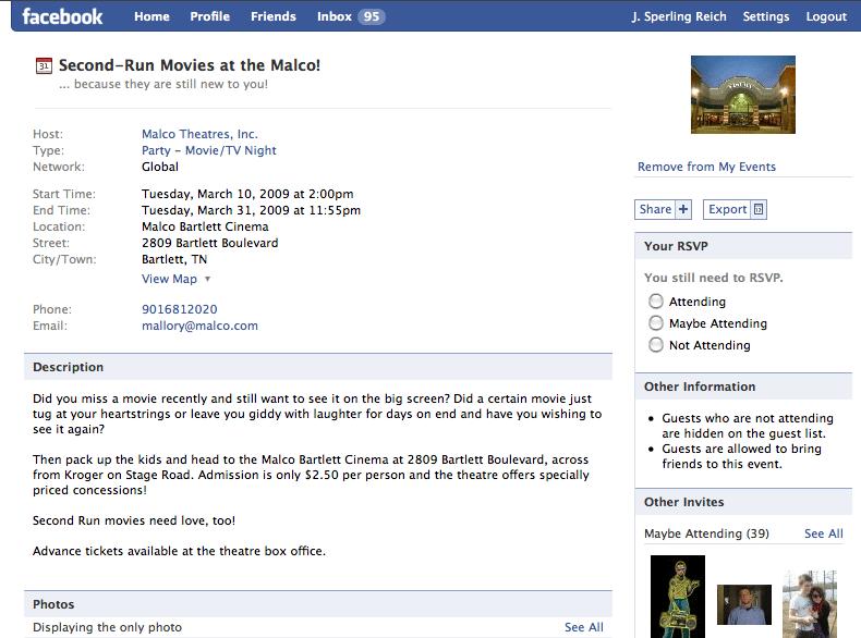 Malco's Facebook Group Screenshot