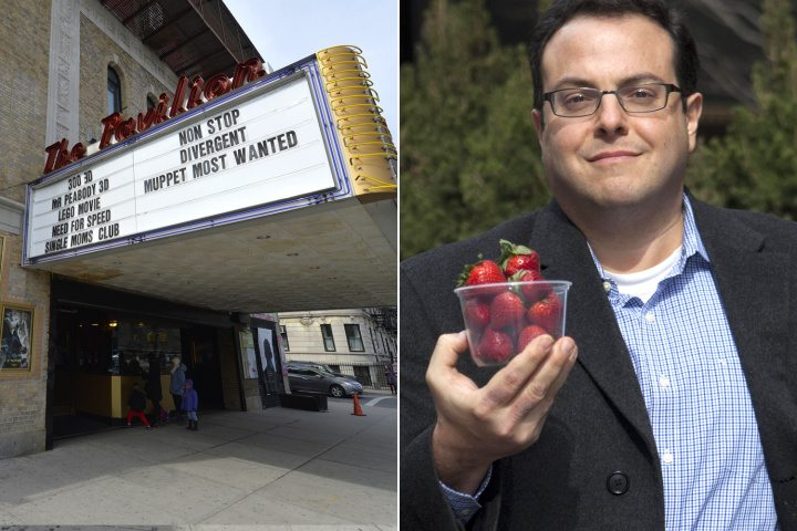FORBIDDEN FRUIT: Michael Kass on Thursday holds berries, which got him bounced from this Brooklyn theater.
