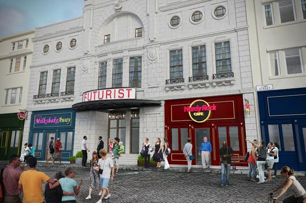 Artist impression of Futurist cinema in Liverpool