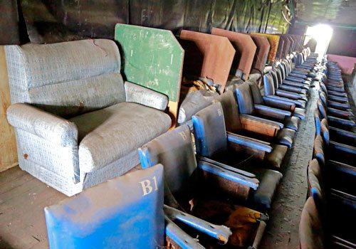 Abandoned cinema in downtown Yangon