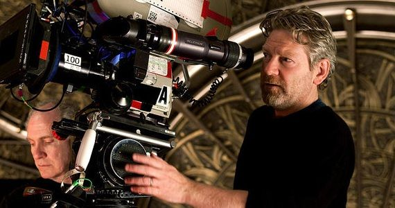 Kenneth Branagh shooting Cinderella on film