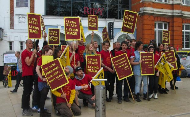 Ritzy staff strike for a Living Wage over Easter