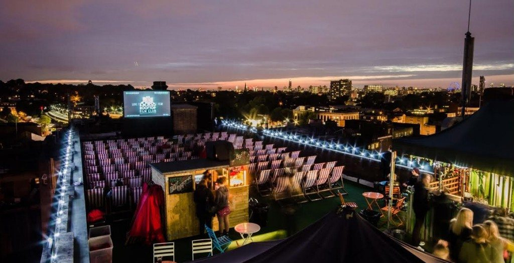 Rooftop cinema London
