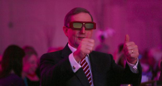 Taoiseach Enda Kenny in 3D glasses