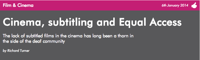 Cinema, subtitling and equal access