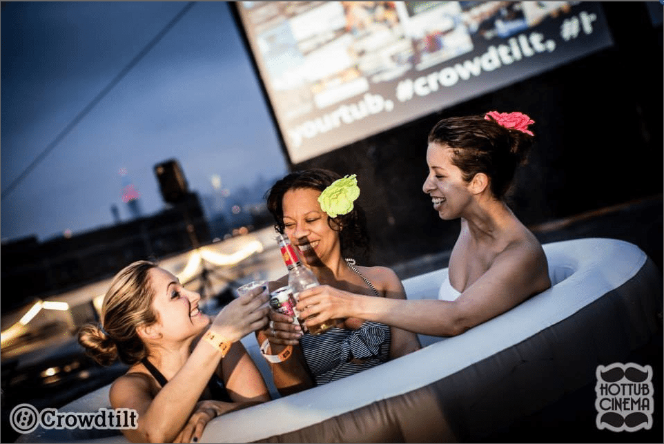 Crowdtilt Hot Tub Cinema