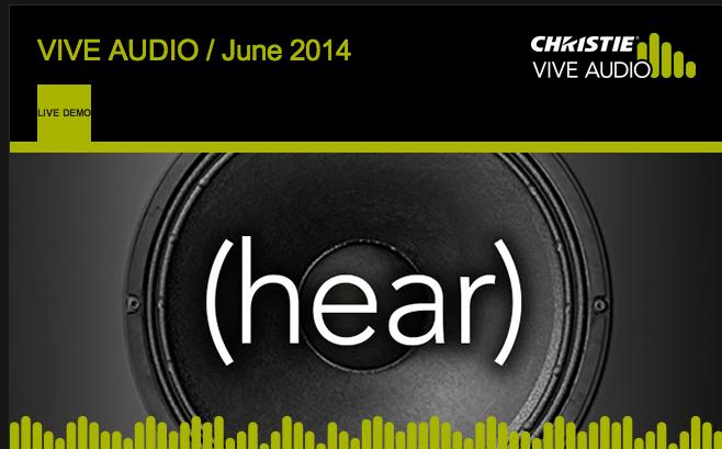 Christie vive Audio