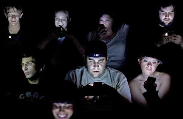 Texting in cinema