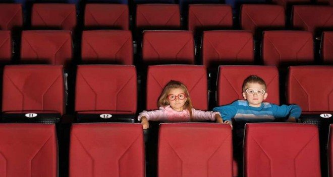 children in cinema