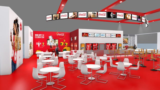 Coca-Cola CineEurope 2014 lounge