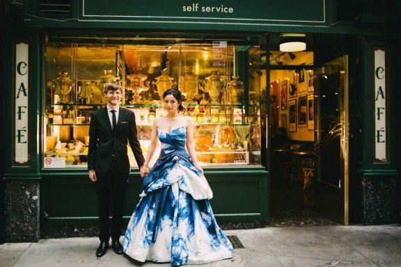 Foreign Cinema wedding couple