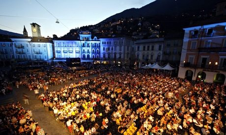 Open-air cinema in Switzerland