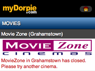 Movie Zone closed