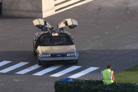 Back to the Future Secret Cinema DeLorean