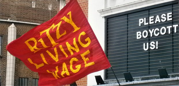 Ritzy Living Wage Strike