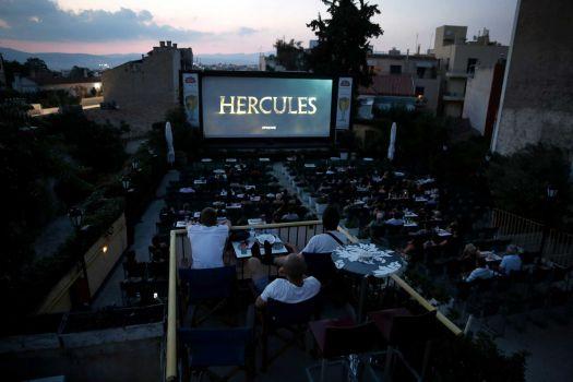 Hercules Greece outdoor cinema