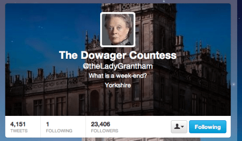 Lady Grantham twitter Downton Abbey