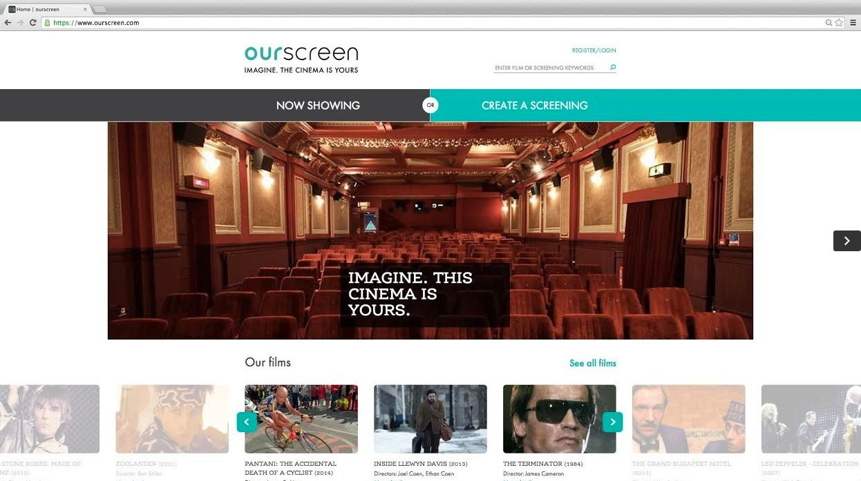 Ourscreen cinema-on-demand