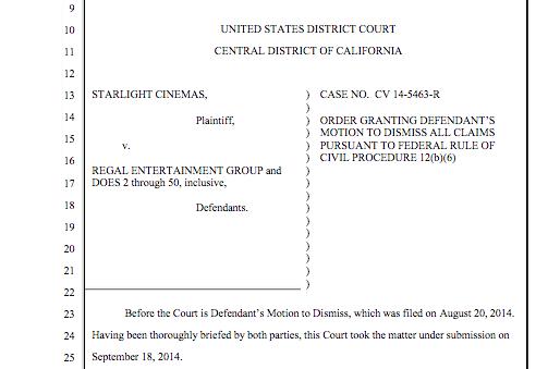 Regal lawsuit