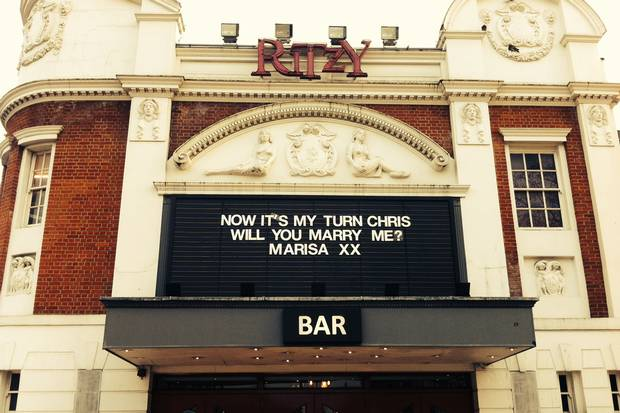 Brixton Ritzy wedding proposal