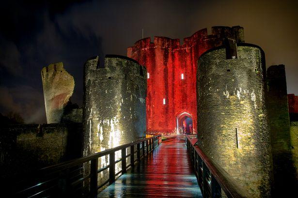 Pop-up cinema Caerphilly Castle
