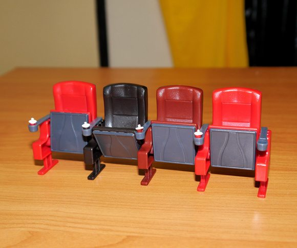 Home cinema chairs miniature