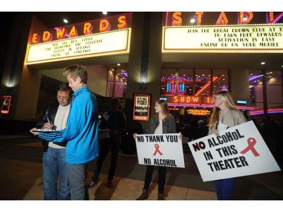 No to alcohol in Regla cinemas