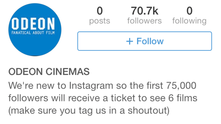 Odeon instagram