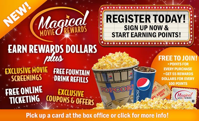 Marcus Theatres Magical Movie Rewards