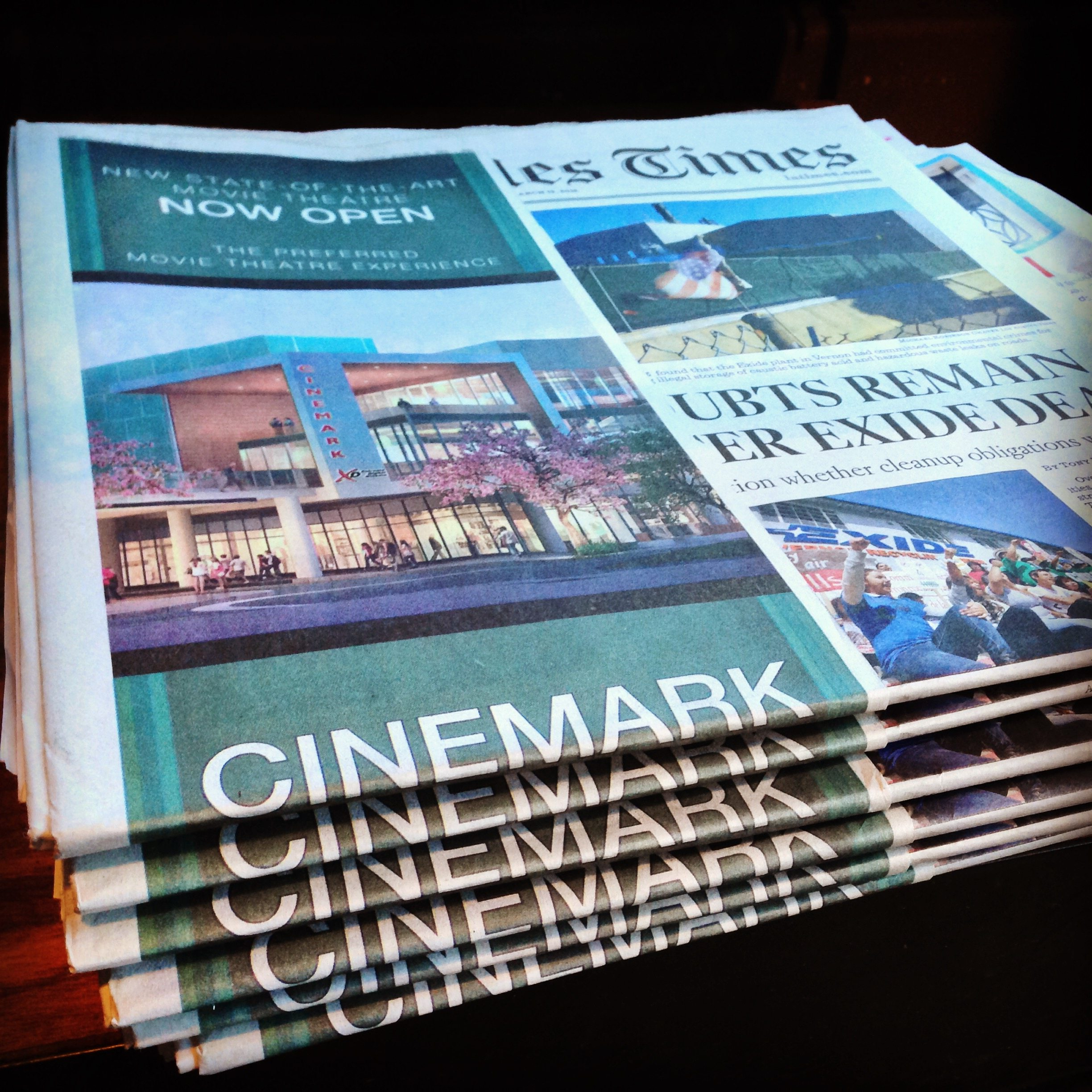 Los Angeles Times Ad for Cinemark Playa Vista