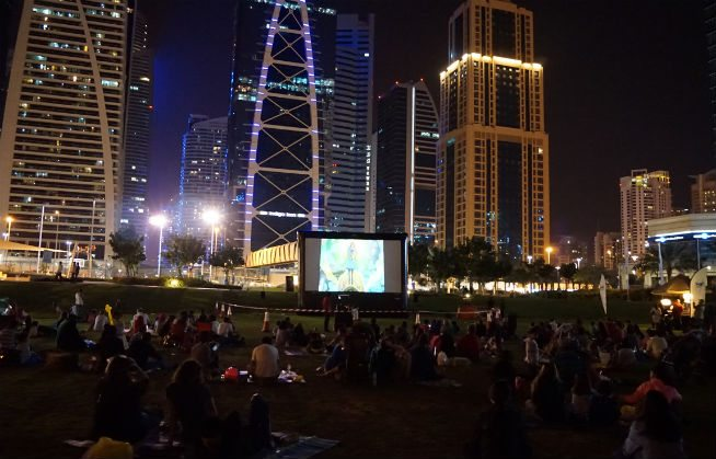 Dubai outdoor cinema