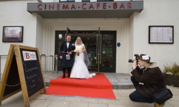 Perth couple cinema wedding