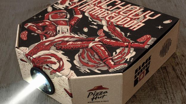 Pizza projector box
