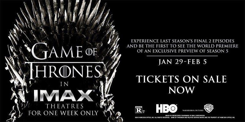 Imax HBO GOT