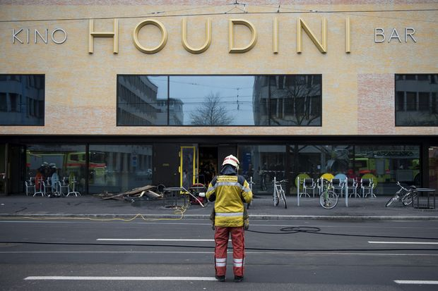 Kino Cinema and Bar Fire in Zurich Switzerland