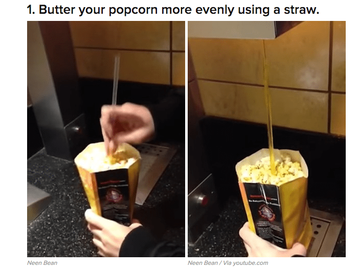 Butter your popcorn