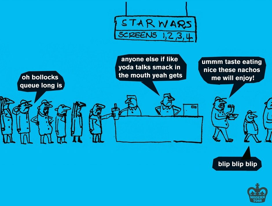 Modern toss Star Wars yoda