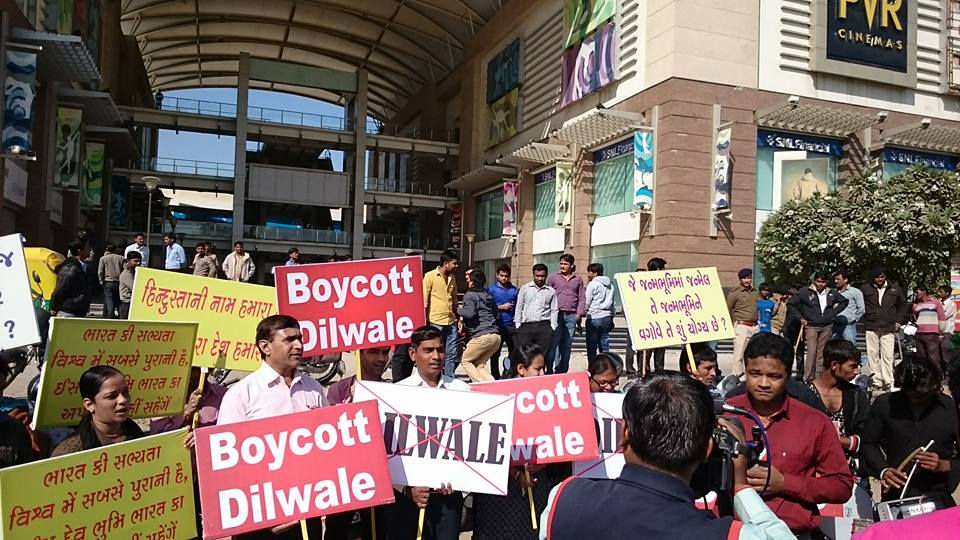 India protestors Dilwale