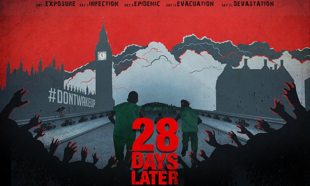 """28 Days Later"" Secret Cinema style (poster: Secret Cinema)"