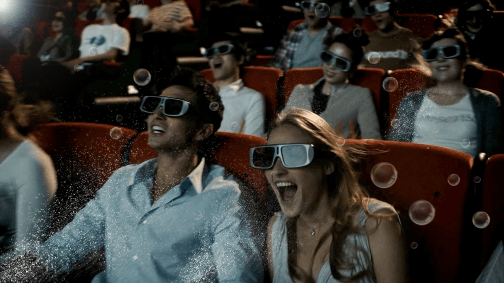 Audiences watches movie in 4DX