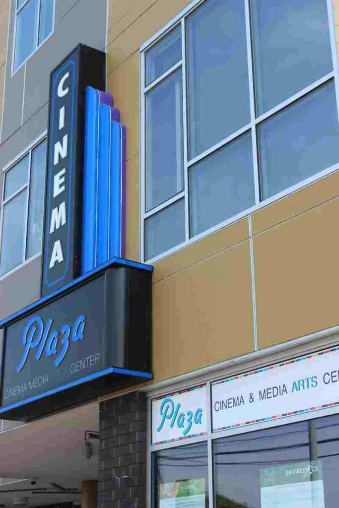 The Plaza Cinema & Media Arts Center new marquee.