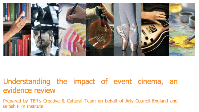 Understanding the impact of Event Cinema report