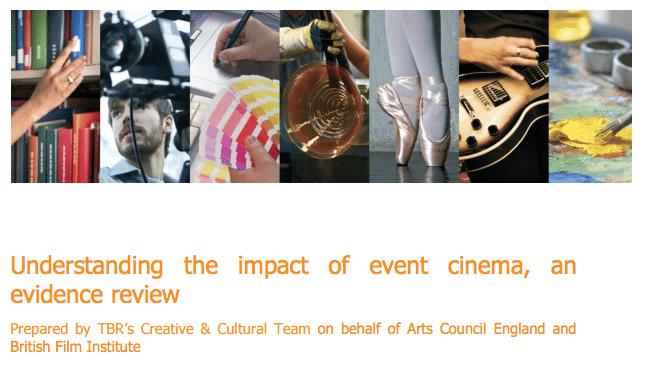 Understanding the impact of Event Cinema report