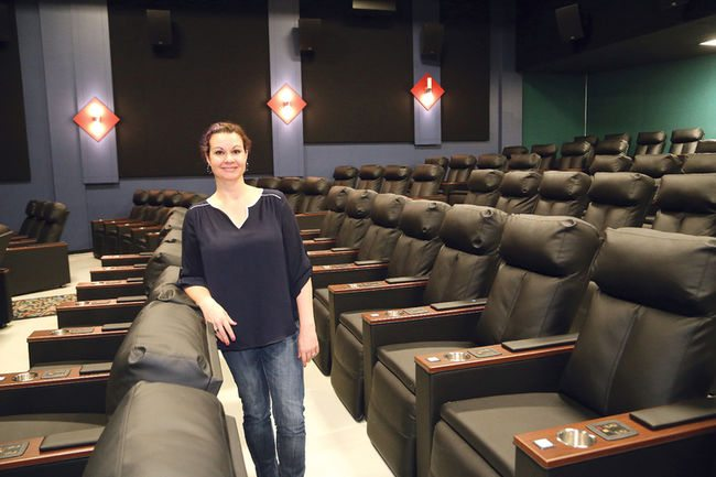 Lisa Laurin, theatre manager of the Downtown Movie Lounge.