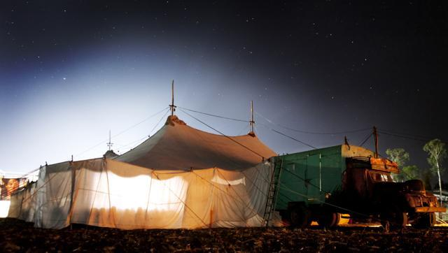 Tent cinema in India