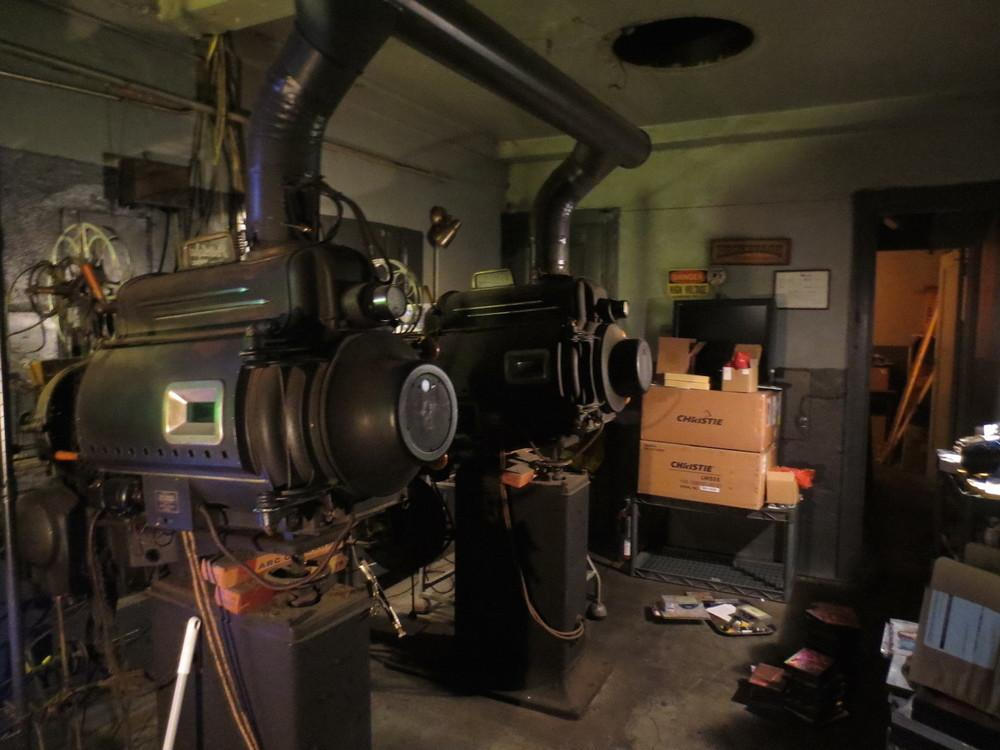 The projection room of the Little Theatre