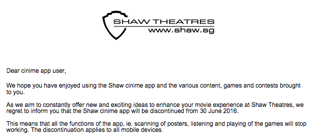 Shaw cinime terminate