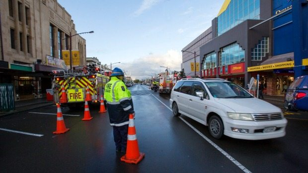 Downtown Cinemas in Palmerston North fire