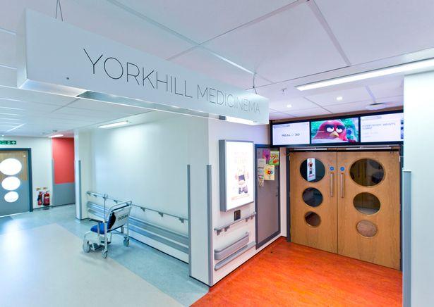 MediCinema in Queen Elizabeth University Hospital, Glasgow.