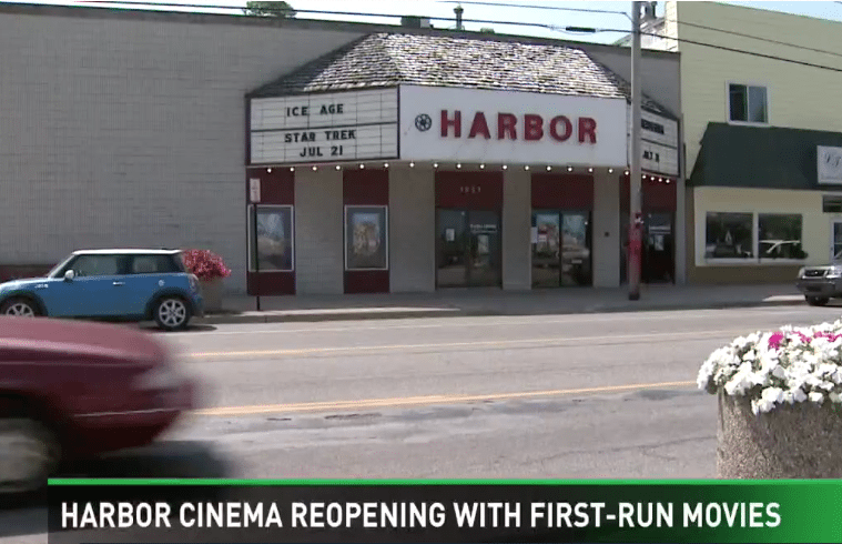 Harbor Cinema re-opens with first-run films.
